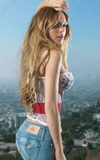 Задок Lindsay Lohan фото